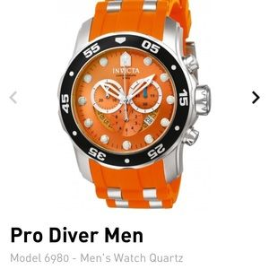 Invicta Men's 6980 Pro Diver Swiss Orange Dial